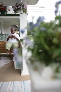 "willie williams on her porch. ""They call me the police of the north side,"" she said"