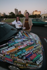 Holly Schultz and Kyle Johnson turned this car into an Obama Art Car