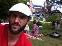 Im Garten der Villa des Literarischen Colloquiums